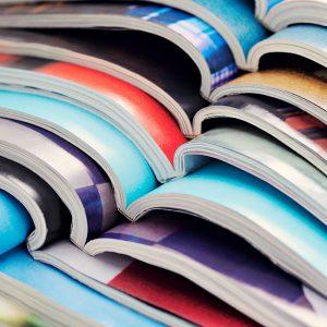 design magazines stock photo